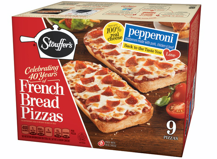Stouffers French bread pizza