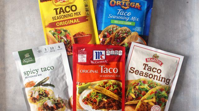 Taco seasoning packet taste test