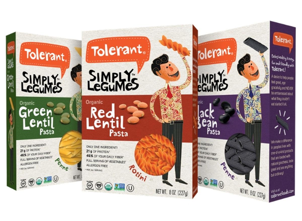 Tolerant simply legumes pasta