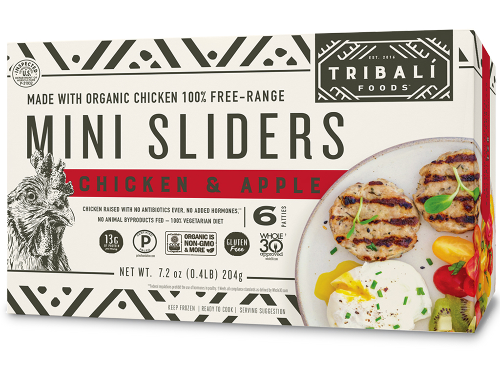 Tribali foods chicken and apple mini sliders