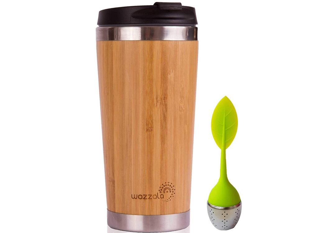 Wazzala bamboo travel mug