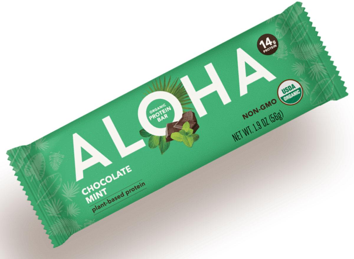 Aloha chocolate mint protein bar