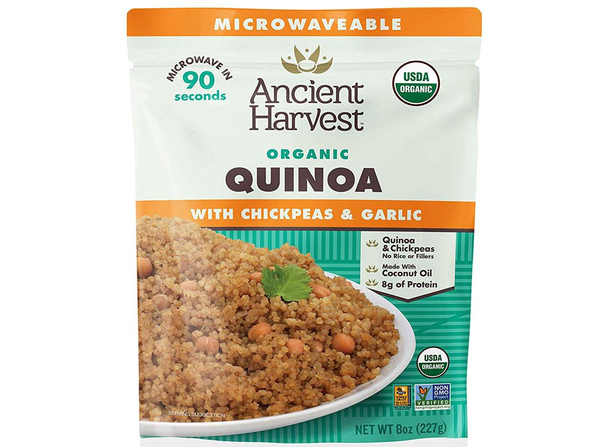 Ancient harvest microwaveable quinoa chickpeas