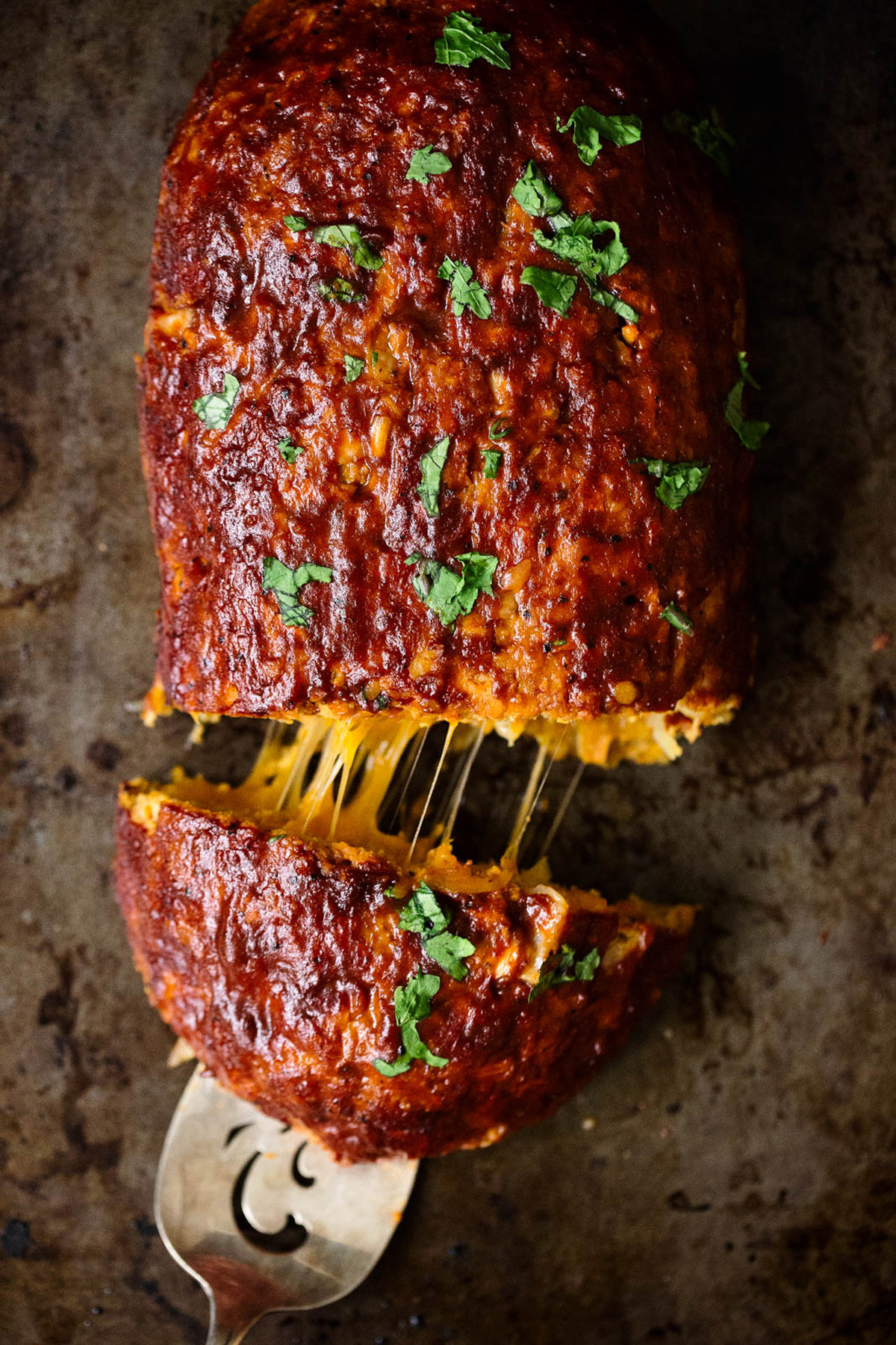 BBQ cheesy turkey meatload