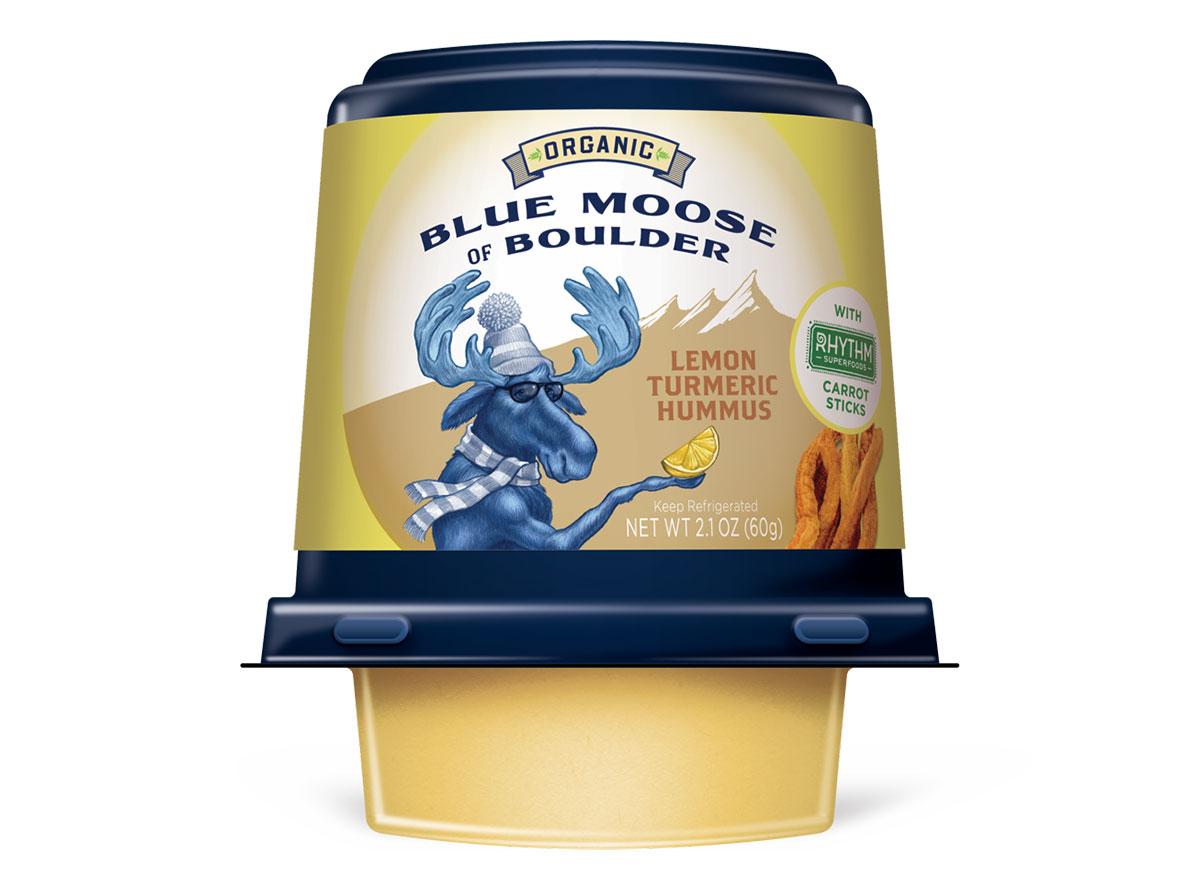 Blue moose of boulder lemon turmeric hummus