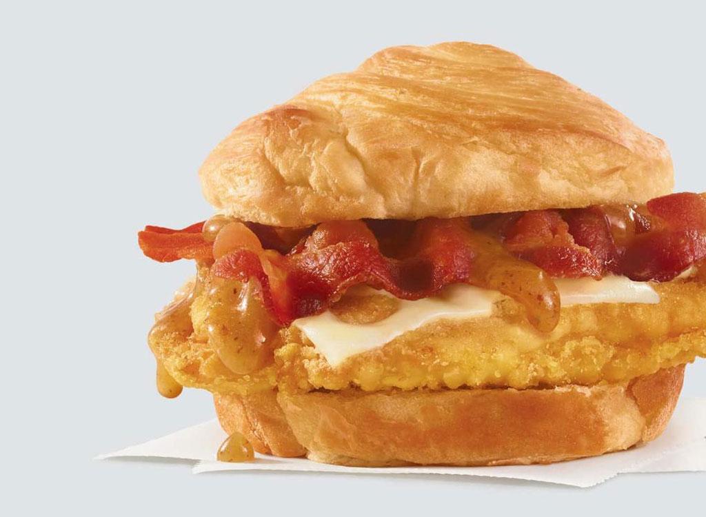 Wendys maple bacon swiss chicken sandwich