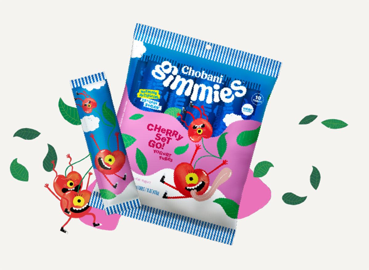Chobani gimmies cherry set go