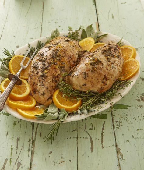 crock pot ladies roasted turkey with oranges and herbs