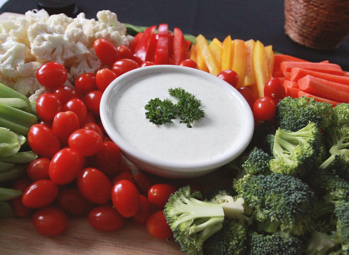Crudite vegetable platter