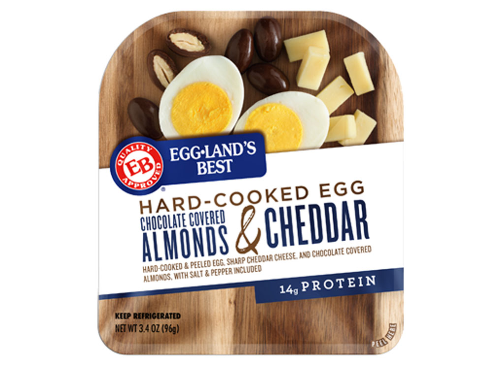 Egglands best hard cooked eggs almonds cheese