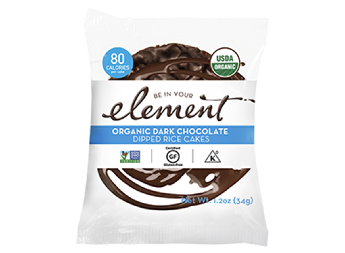 Element organic dark chocolate dipped rice cakes