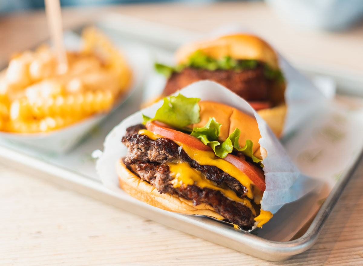 Fast food double cheeseburger