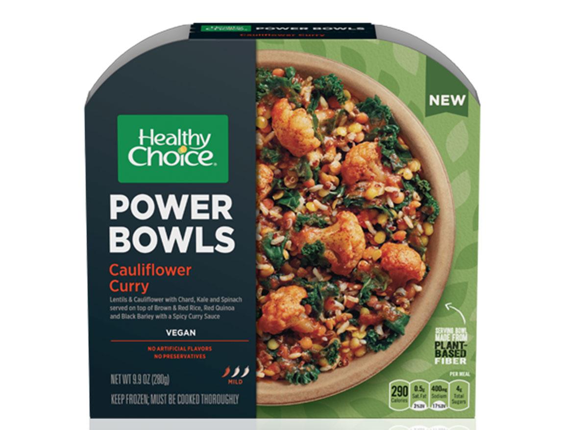 Healthy choice curry cauliflower power bowl