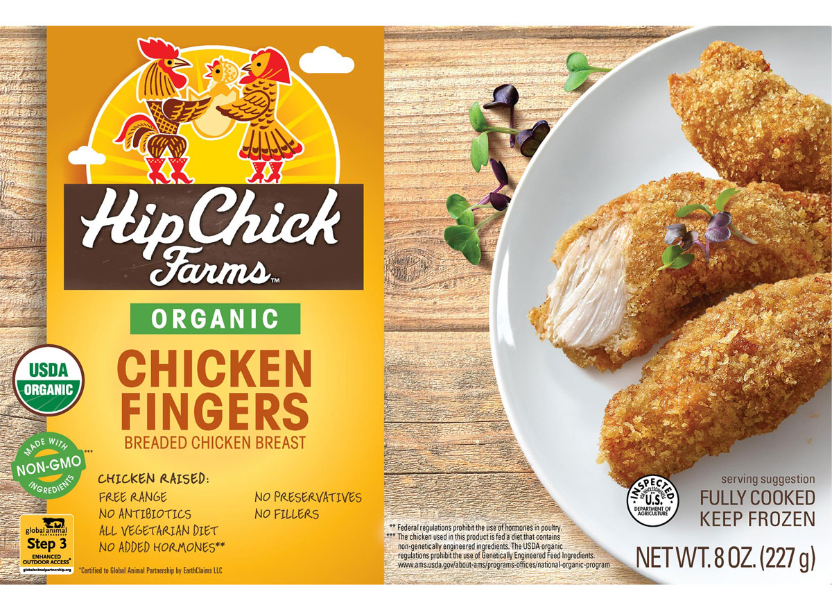 Hip chick farms organic chicken fingers