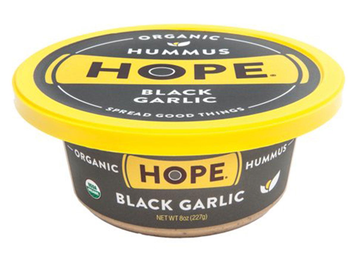 Hope black garlic hummus