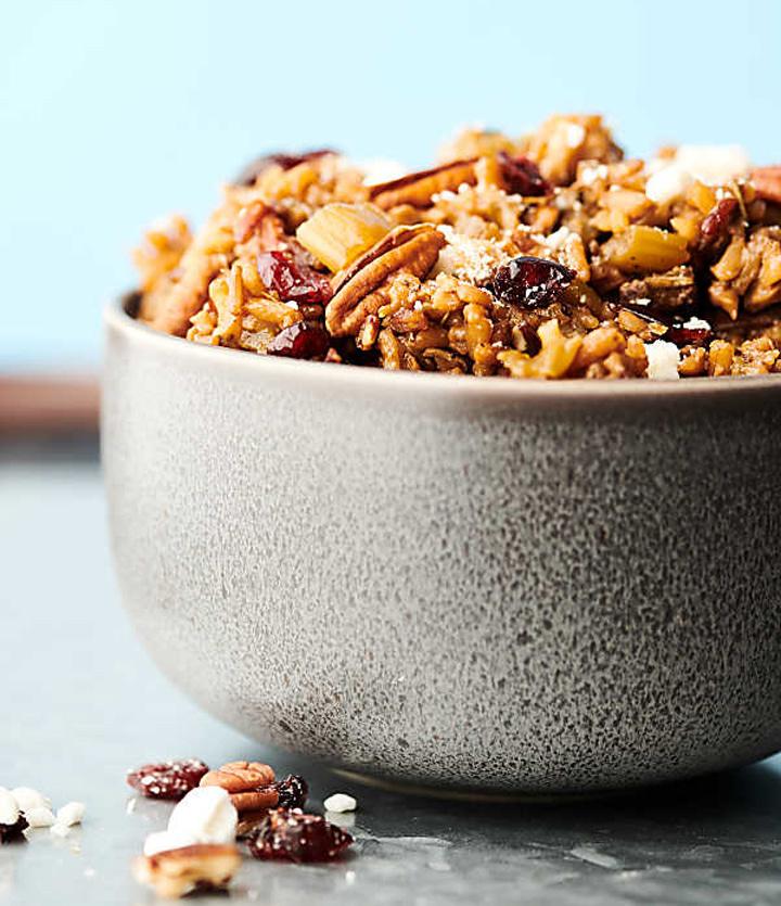 Insant pot wild rice stuffing