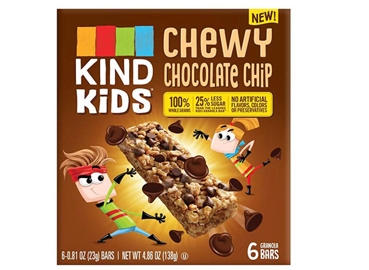 Kind kids chewy chocolate chip bars