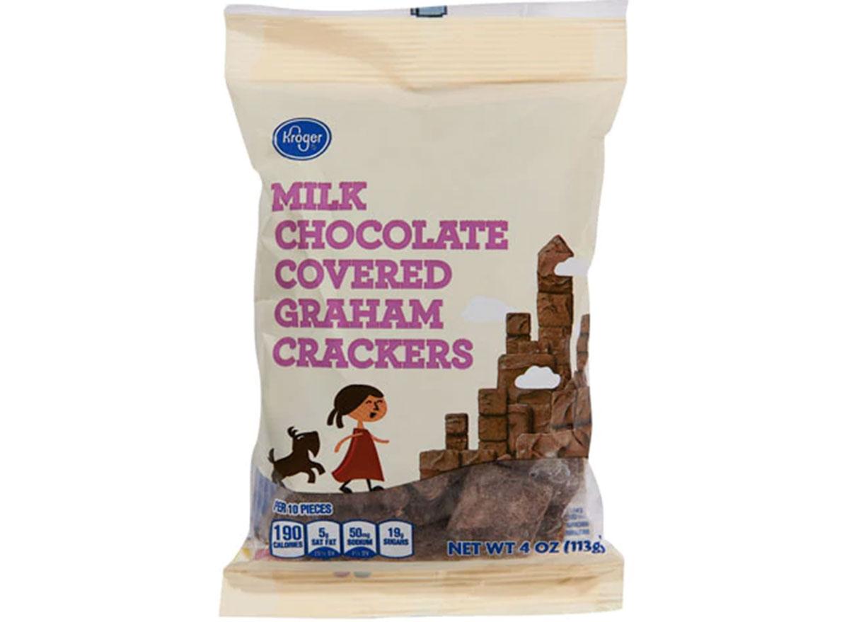 Kroger milk chocolate covered graham crackers