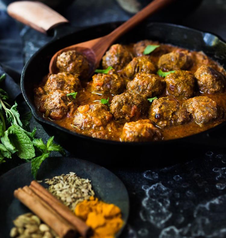 Lamb curry meatballs