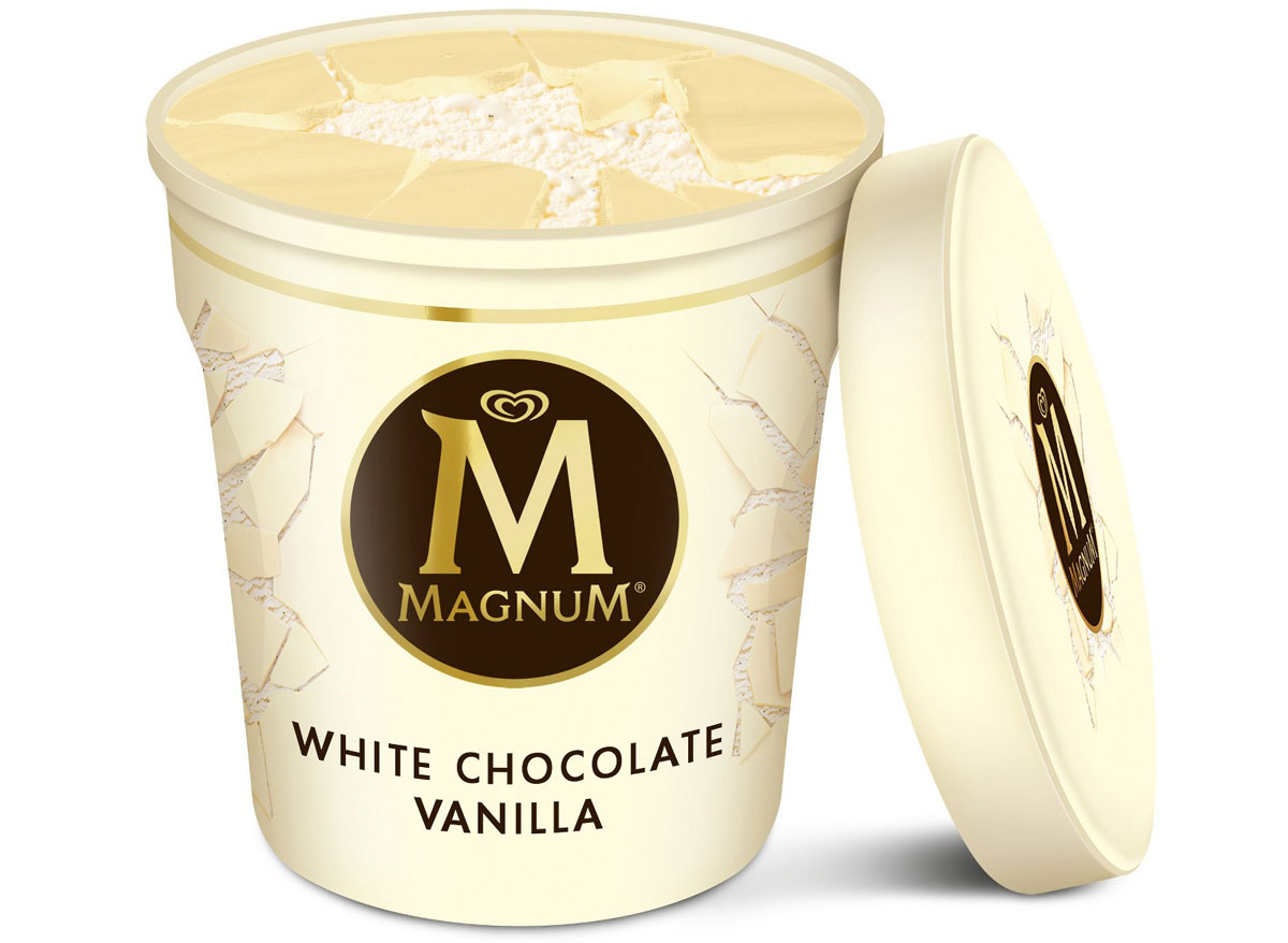 Magnum white chocolate vanilla ice cream pint