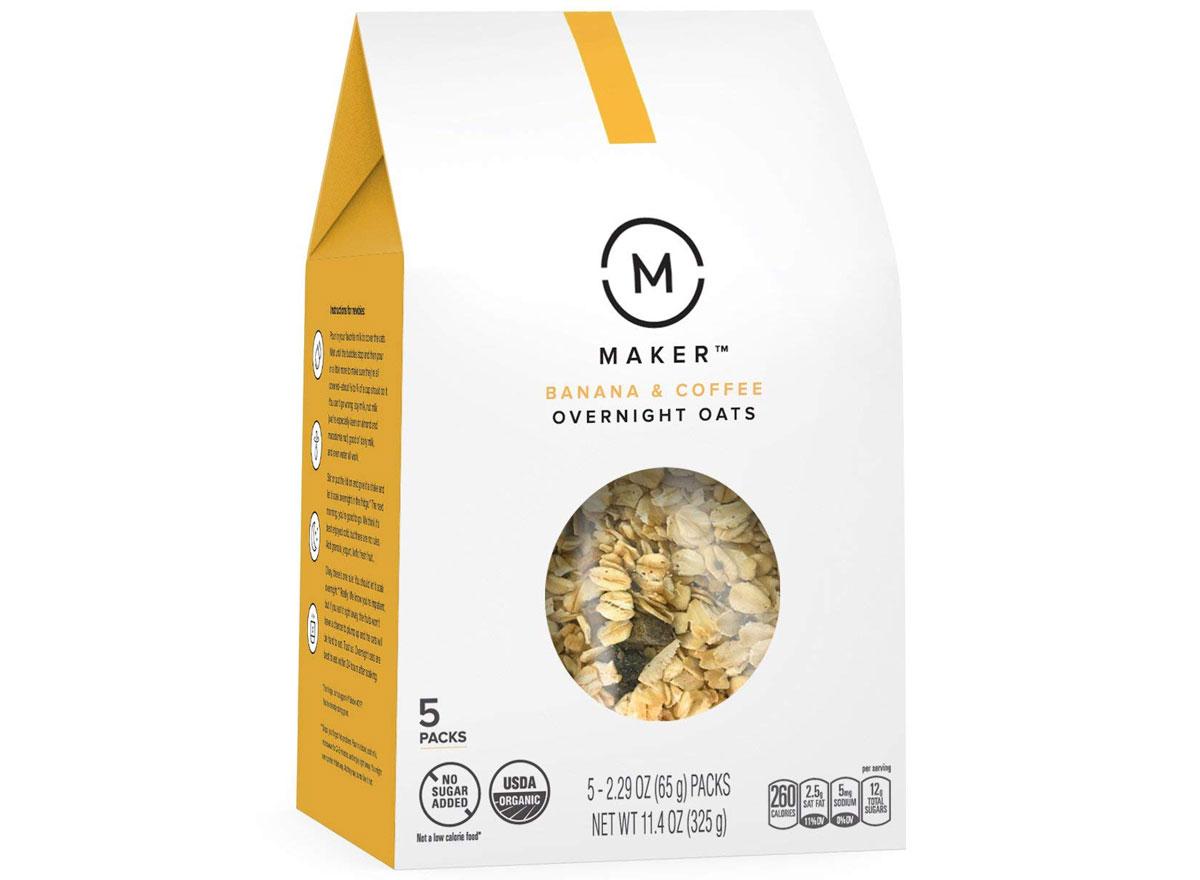 Maker overnight oats banana coffee