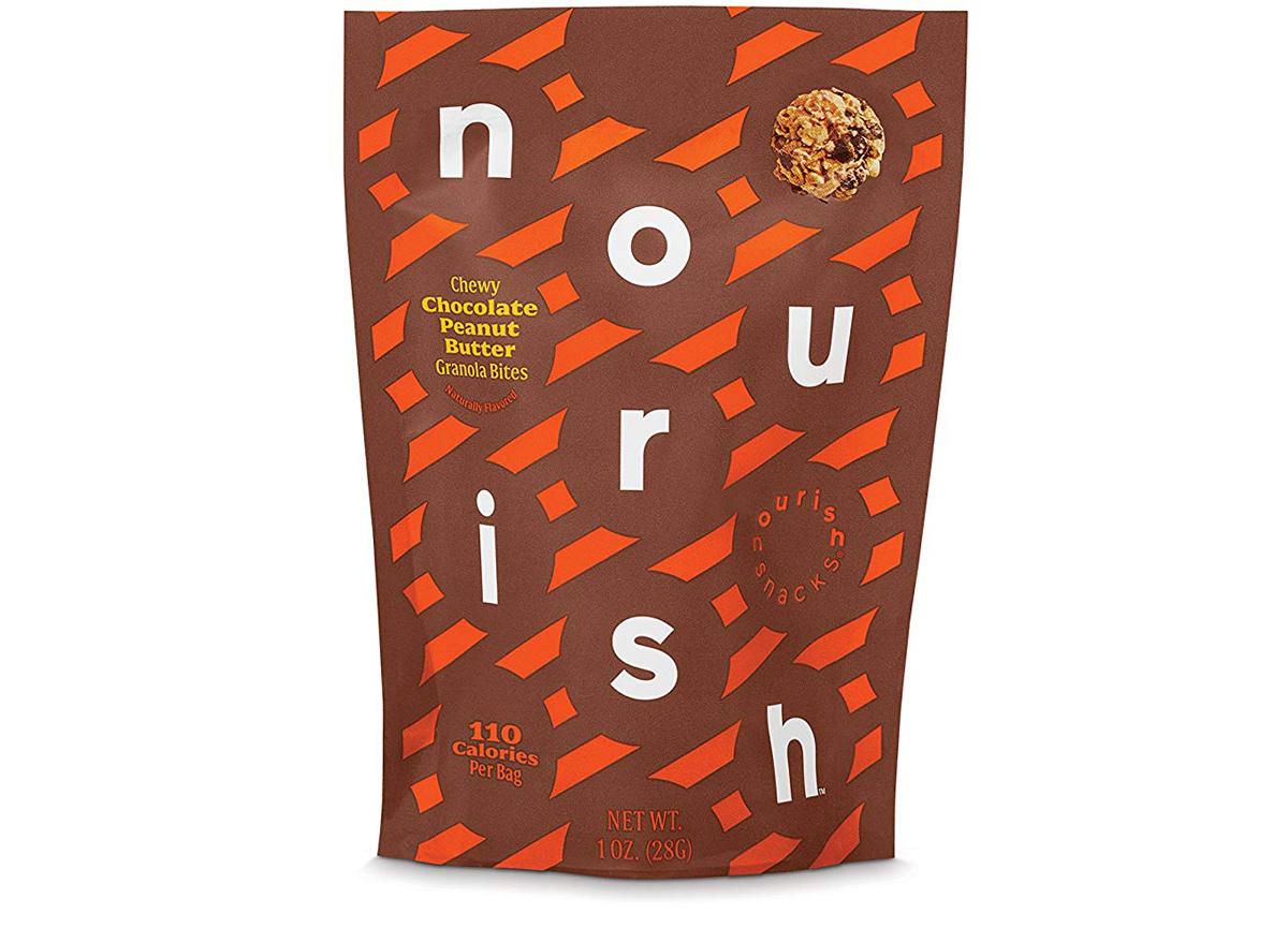 Nourish snacks chocolate peanut butter bites