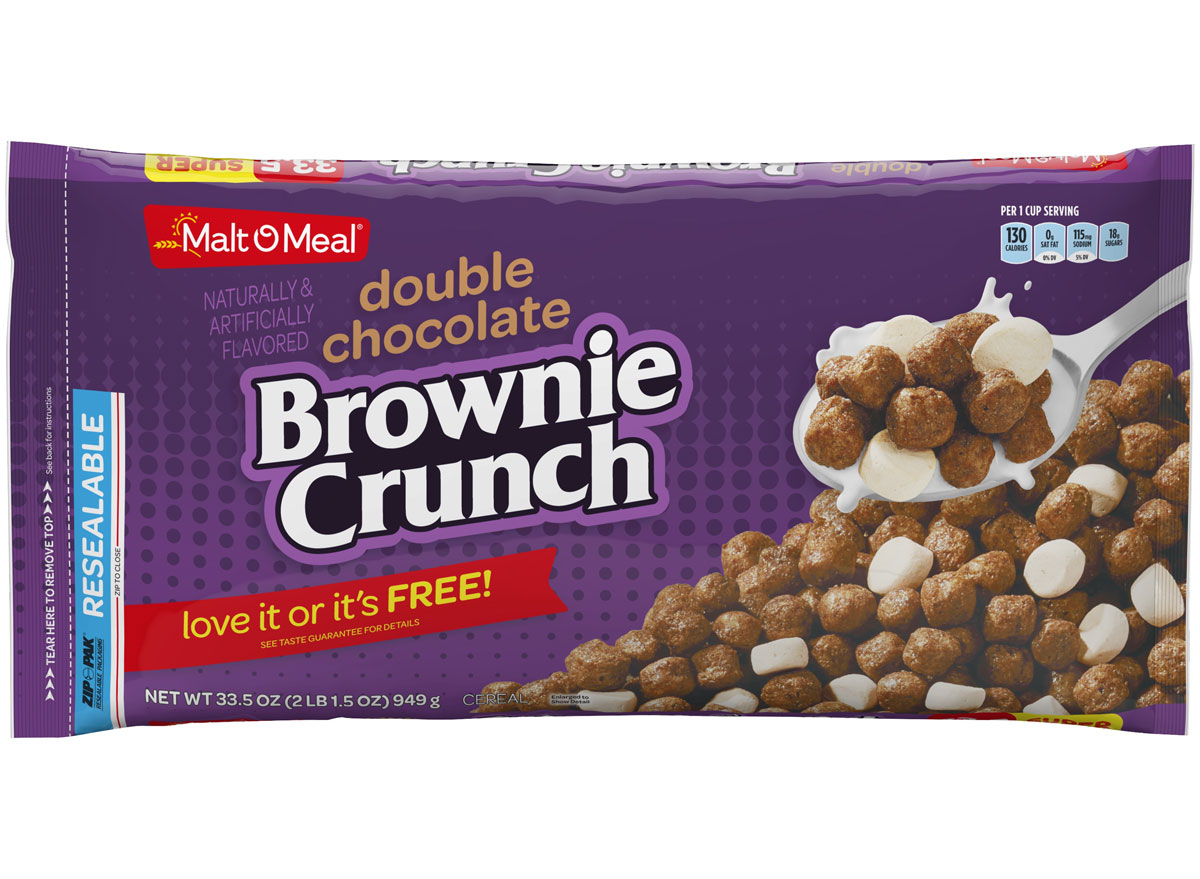Post malt o meal double chocolate brownie crunch