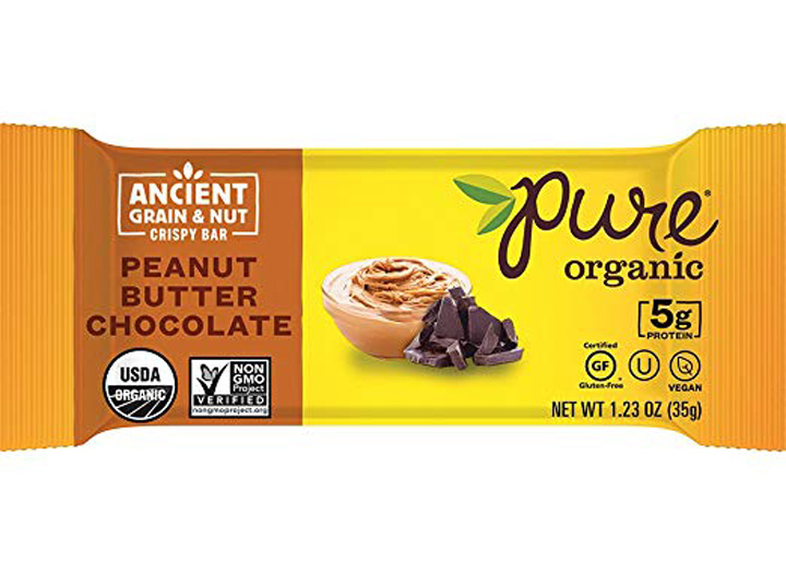 Pure organic chocolate peanut butter bar