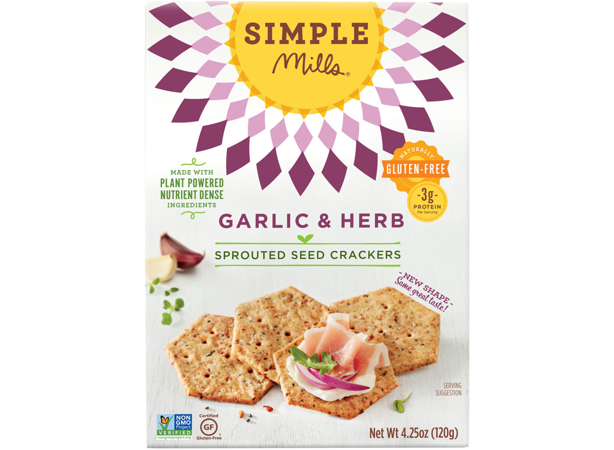 Simple mills sprouted seed crackers garlic herb