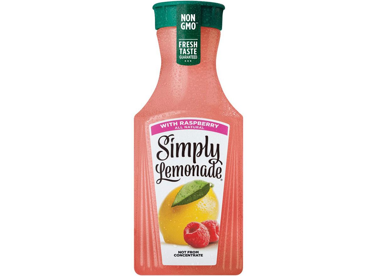 Simply lemonade with raspberry