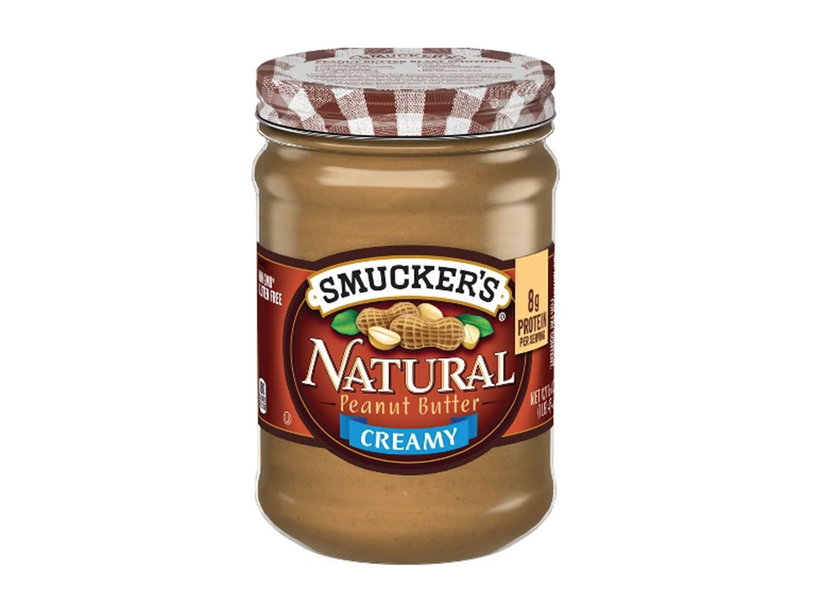 Smucker's all natural creamy peanut butter