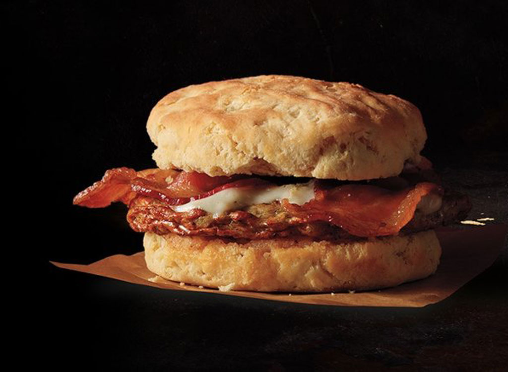 Starbucks chicken sausage and bacon biscuit