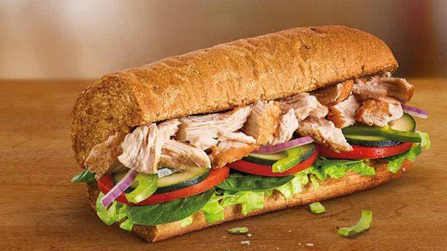 Subway rotisserie chicken sub