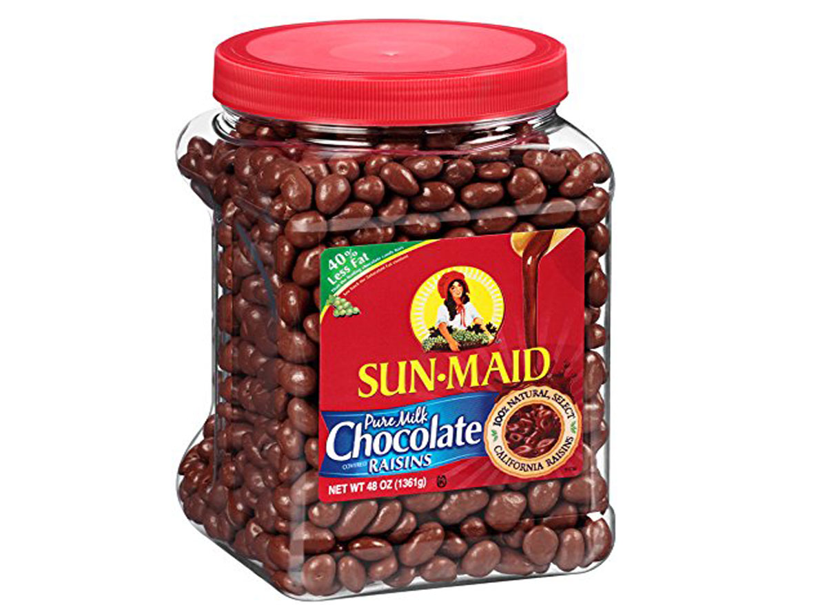 Sun maid milk chocolate covered raisins