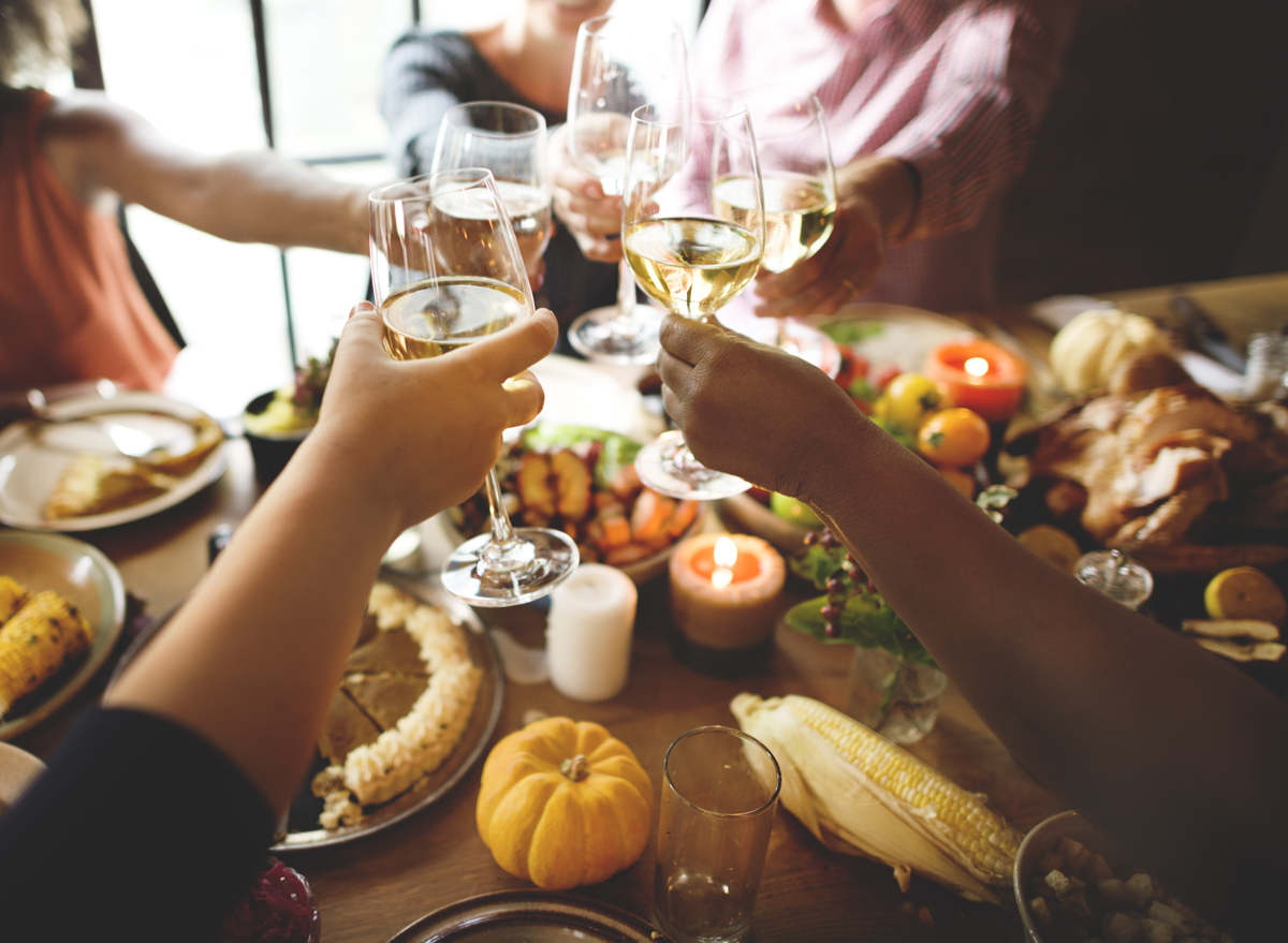 Thanksgiving cheers white wine