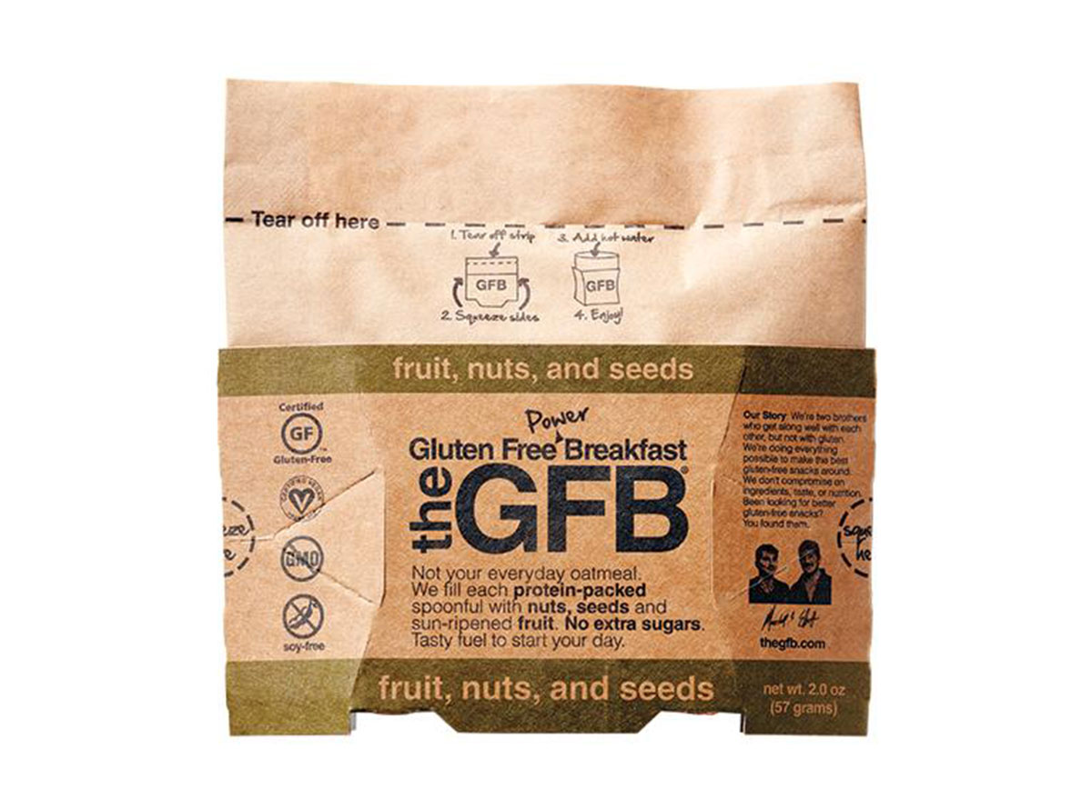 The gluten free breakfast fruit nuts and seeds pack