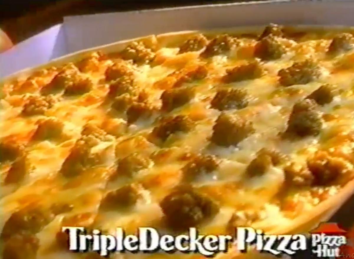 Pizza Hut Triple Decker Pizza
