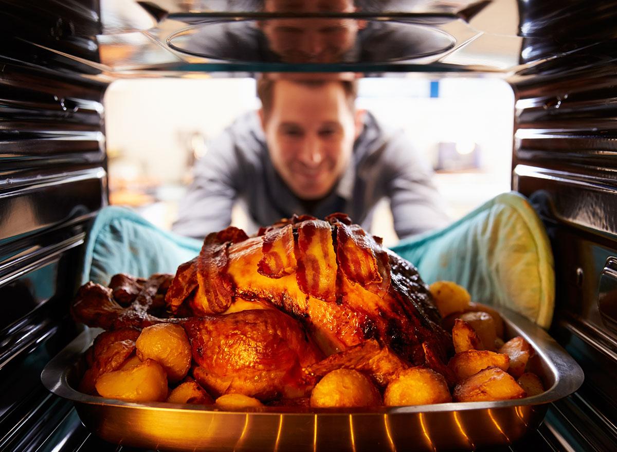 turkey in oven