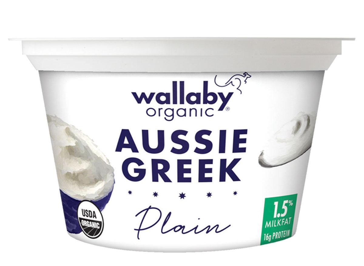 Wallaby organic aussie greek plain yogurt