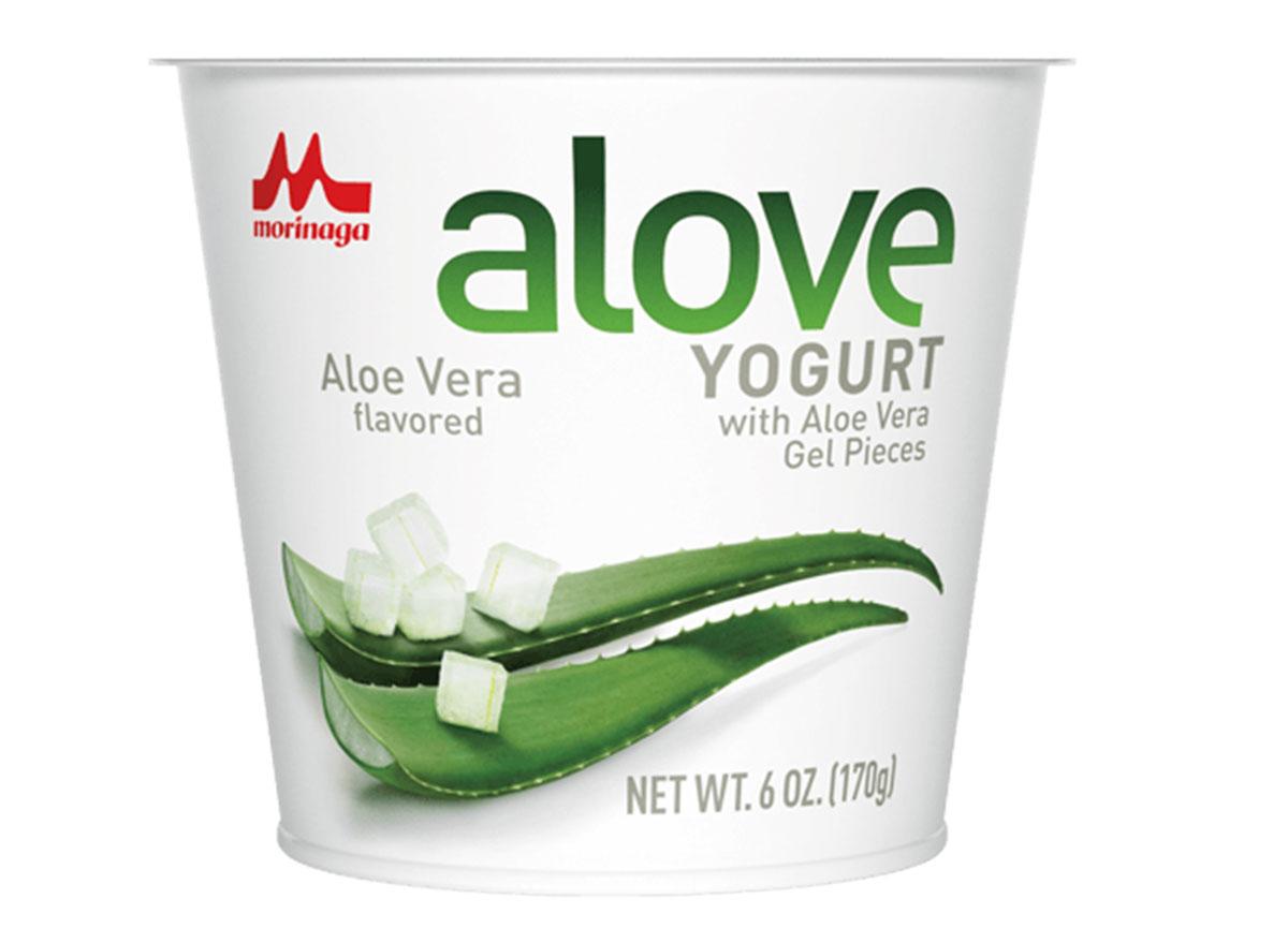 Aloe vera flavored yogurt