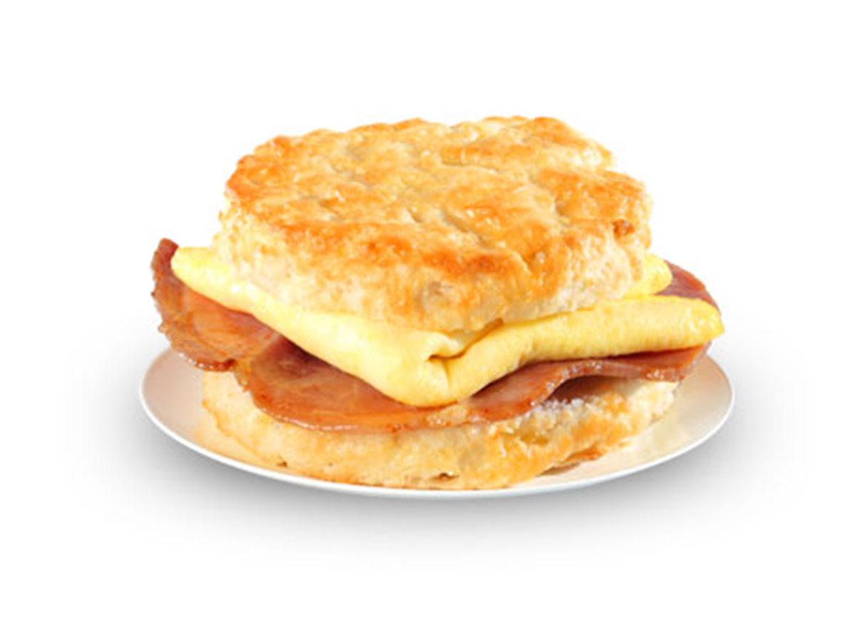 Ham egg biscuit