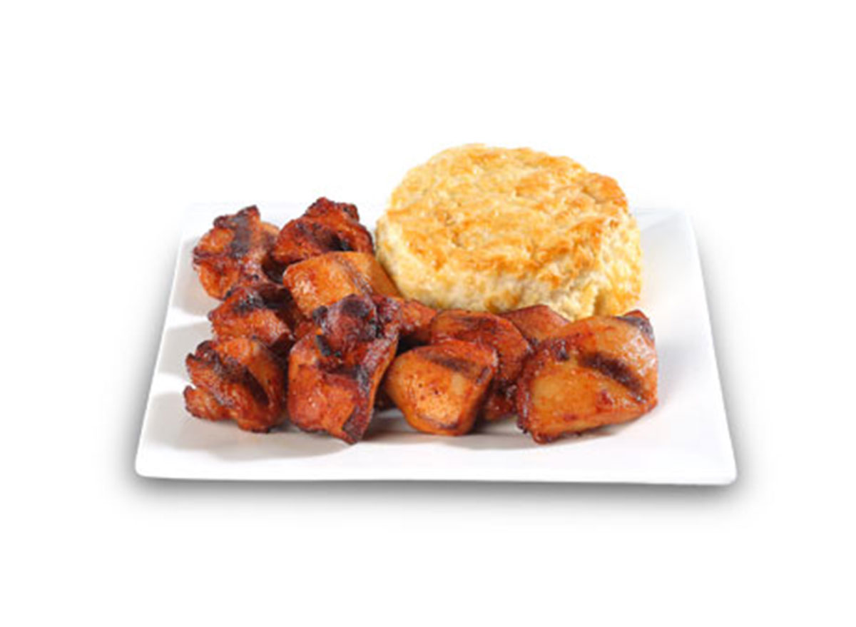 Roasted chicken bites with biscuit