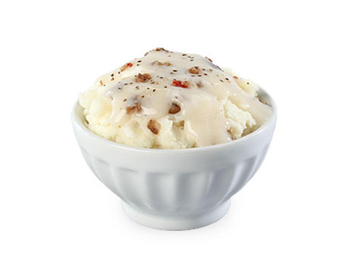 Mashed potatoes gravy