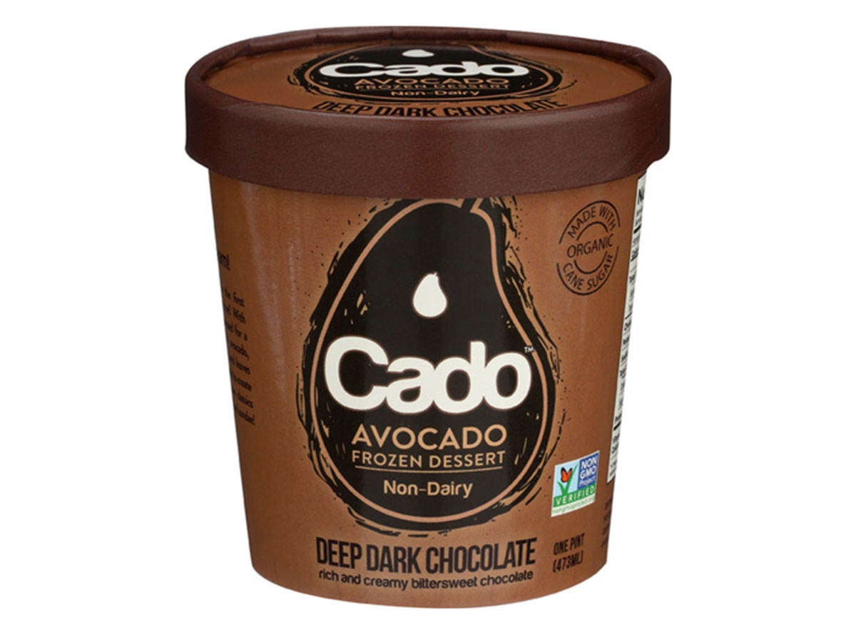 Cado deep dark chocolate frozen avocado dessert pint