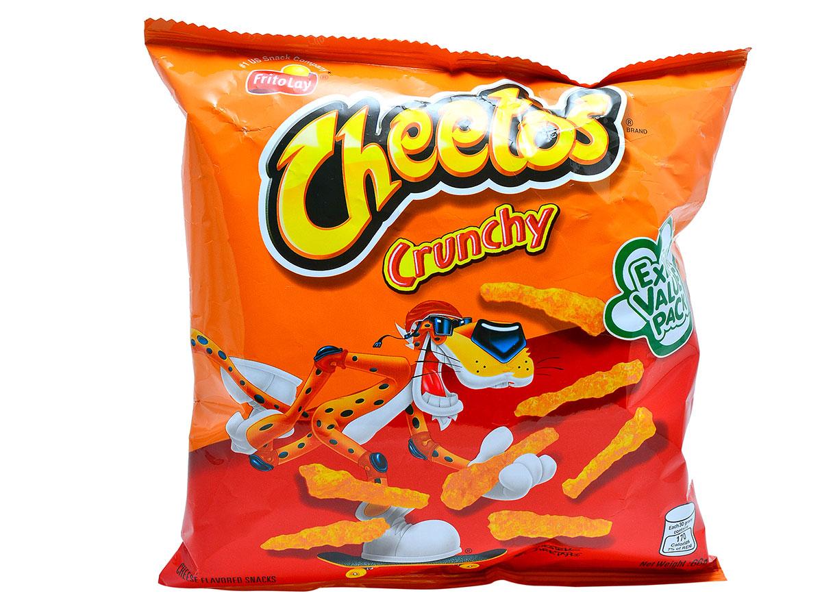 Cheetos crunchy mellow cheese snacks
