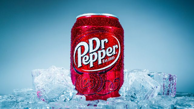 Dr pepper on ice