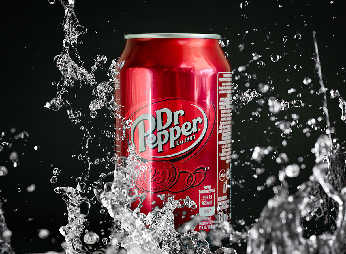 Dr pepper in water