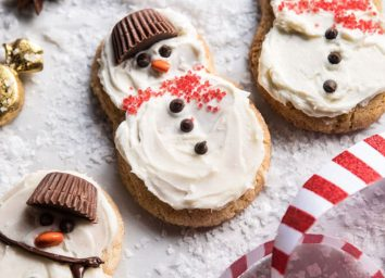 Eggnog frosted chai snickerdoodle snowmen hero image