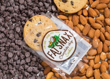 Fat snax cookies chocolate chip almond