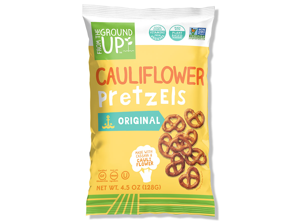 From the ground up cauliflower pretzels bag